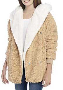 Oversized Hooded Wooby Coat