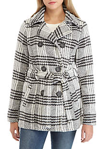 Belted Wool Peacoat