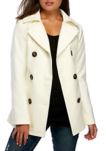Wool Belted Peacoat
