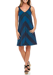 Cayson Sleeveless Chevron Dress