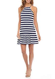 Rio Striped Halter Dress