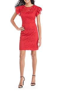 Mai Tai Lace Ruffle Dress
