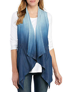 New Directions® Petite Chambray Vest