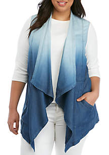 New Directions® Plus Size Chambray Vest