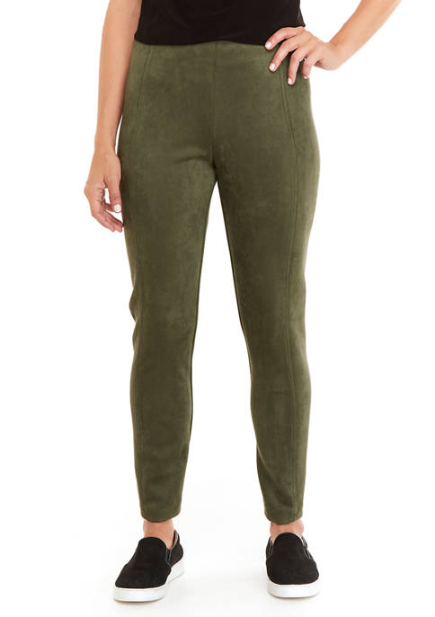 New Directions® Womens Faux Suede Pants
