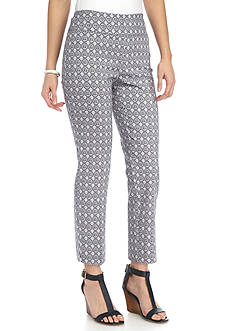 New Directions® Petite Printed Millennium Pull-On Ankle Pant