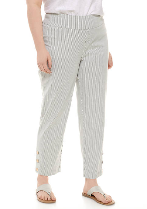 New Directions® Plus Size Millennium Pants with Snaps