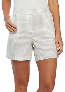 Striped Linen Shorts