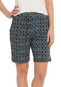 Mill Print Bermuda Shorts