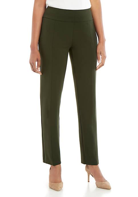 Solid Ponte Straight Pants