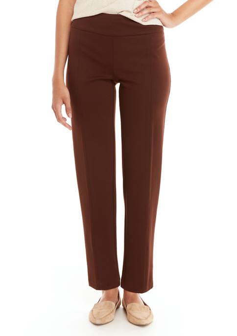 Womens Ponte Straight Pants