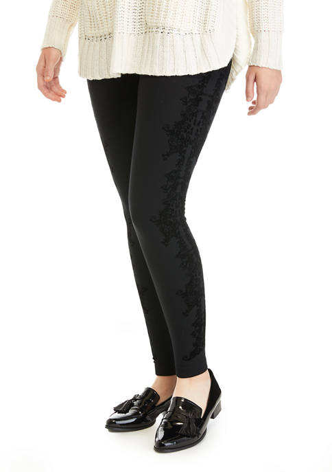 New Directions® Womens Flocked Leggings