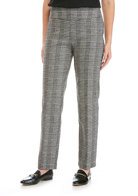 New Directions® Womens Plaid with Silver Pants