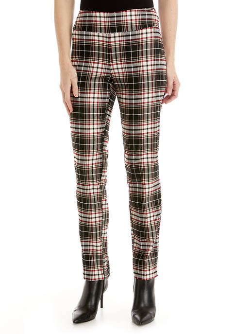 New Directions® Womens Cool Girl Plaid Pants