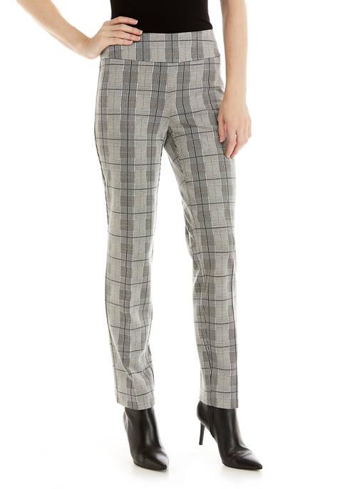 Womens Lurex® Plaid Pants