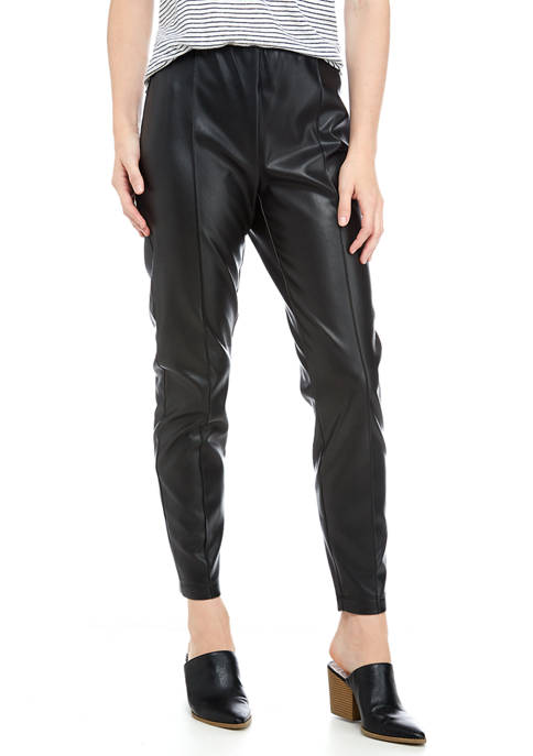 New Directions® Womens Faux Leather Pants