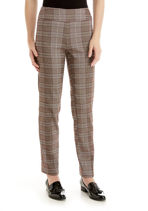 New Directions® Womens Brown with Dark Red Plaid