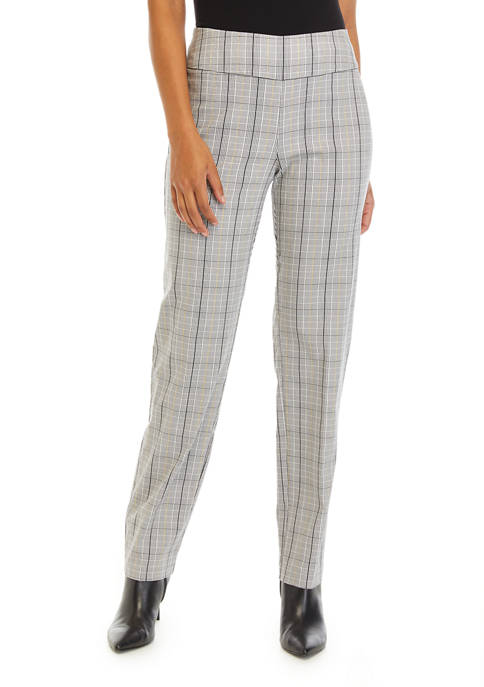 New Directions® Womens Plaid with Gold Lure Pants