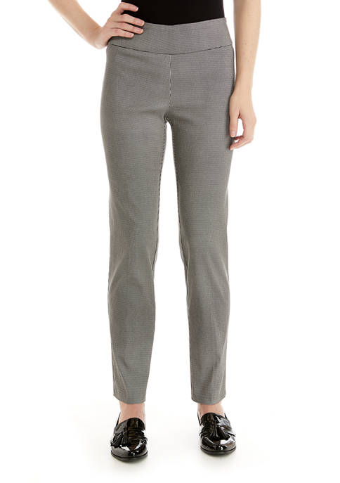 New Directions® Womens Houndstooth Millennium Pants