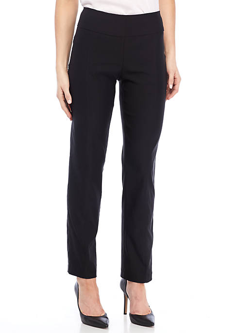 New Directions® Solid Millennium Pull-On Slim Leg Pants