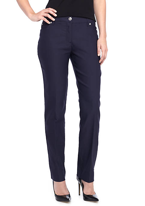 New Directions® Millennium Slim Leg Twill Pant