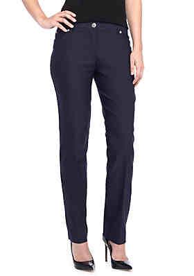 807575ce158 New Directions® Millennium Slim Leg Twill Pant ...