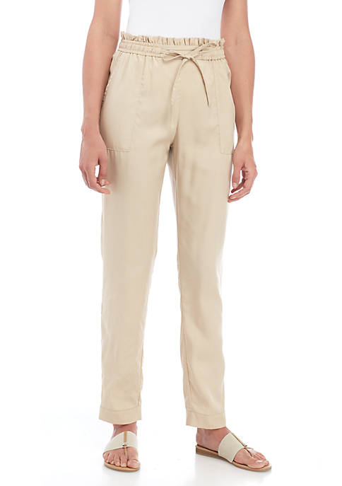 New Directions® Paperboy Tie Waist Pants