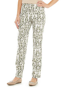 New Directions® Print Pull On Millennium Pants