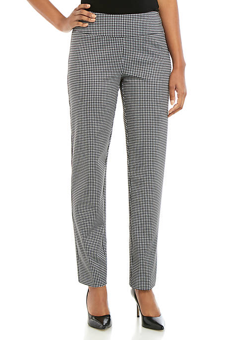 New Directions® Houndstooth Ponte Straight Pants