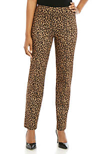 New Directions® Animal Ponte Straight Pants