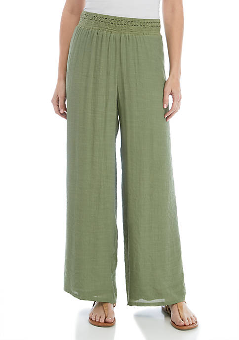New Directions® Pull On Linen Slub Palazzo Pants