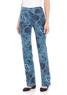 Pull-On Printed Pants