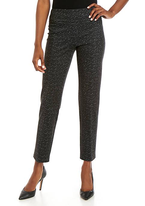 New Directions® Ponte Splatter Straight Leg Pants