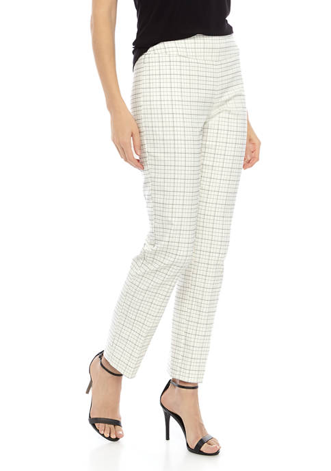 New Directions® Womens Pull On Mini Plaid Millennium