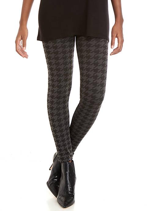 Womens Studio  Fashion Plaid Houndstooth Leggings