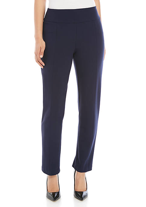 New Directions® Petite Ponte Straight Leg Pants