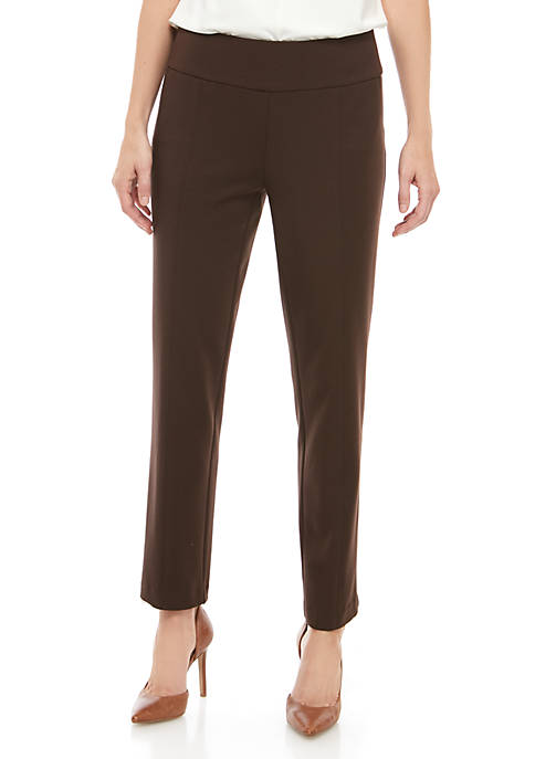 Petite Size Compression Pull On Pants - Average