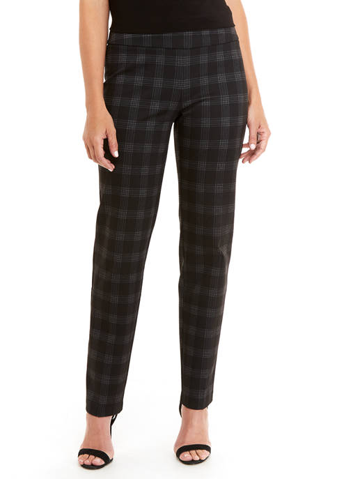 New Directions® Petite Plaid Trouser Pants