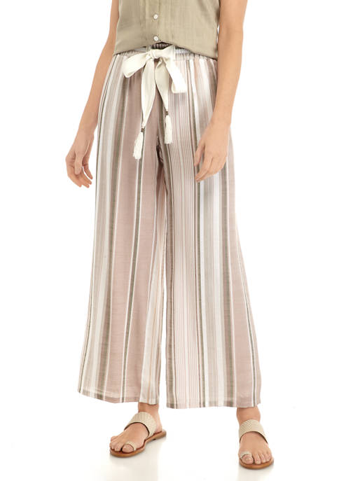 New Directions® Petite Yarn Dyed Stripe Soft Pants