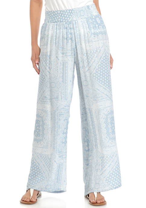 New Directions® Petite Slub Wide Leg Pants