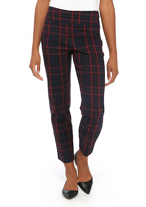 New Directions® Petite Pull On Plaid Millennium Pants