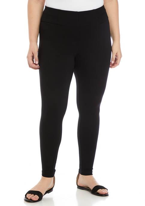 Plus Size Pull On Ponte Pants