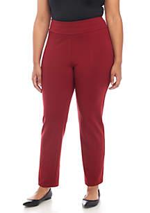 Plus Size Pull-On Ponte Pants