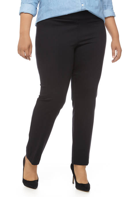 New Directions® Plus Size Straight Ponte Pants