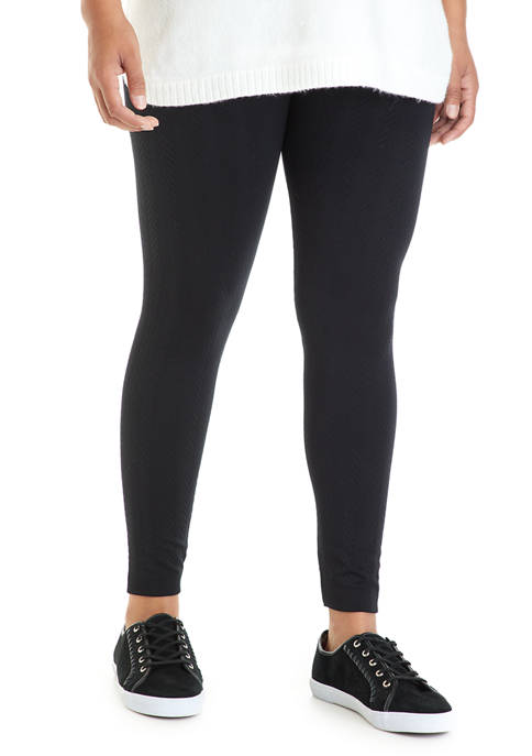 New Directions® Studio Plus Size Cable Leggings