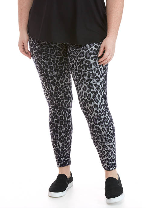 New Directions® Plus Size Printed Fleece Leggings