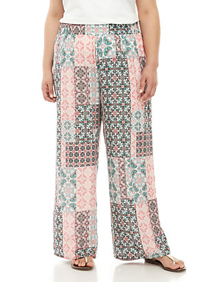 d544ceb7395f New Directions®. New Directions® Plus Size Printed Palazzo Pants