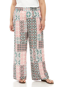 New Directions® Plus Size Printed Palazzo Pants