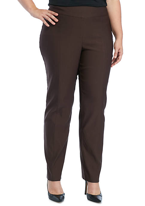 New Directions® Plus Size Stretch and Woven Pull-on