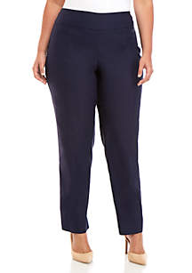 New Directions® Plus Size Stretch and Woven Pull-on Pants
